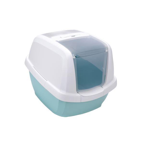 IMAC Krytý kočičí záchod s uhlíkovým filtrem a lopatkou, mátový 62