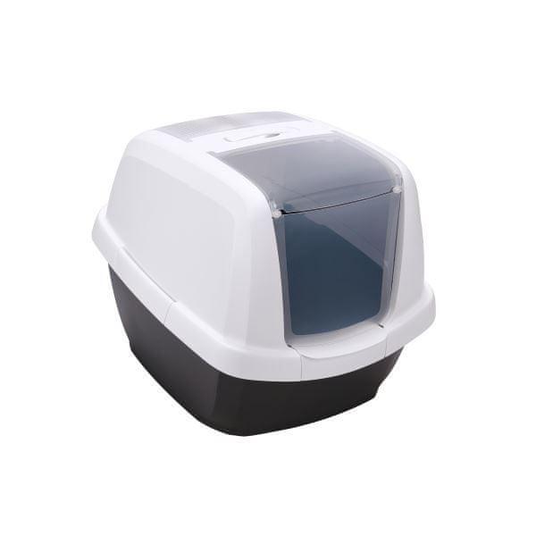 IMAC Krytý kočičí záchod s uhlíkovým filtrem a lopatkou, antracitový 62