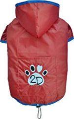 Doggy Dolly dežni plašček 2 tački, rdeč, XXL