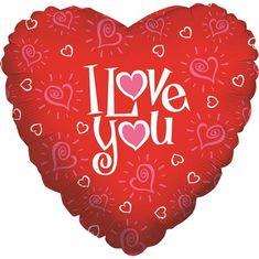 Grabo Nafukovací balónek červené srdce I love you 46cm