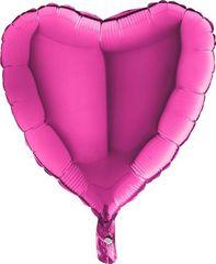 Grabo Nafukovací balónek růžové srdce 46 cm
