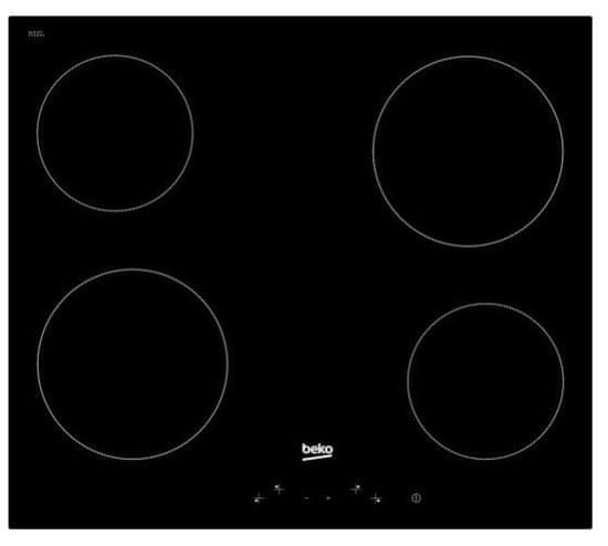 Beko HIC64400E steklokeramična kuhalna plošča