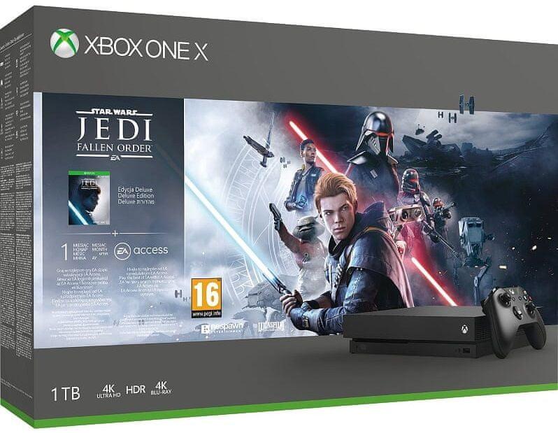 Microsoft Xbox One X 1TB + StarWars Jedi: Fallen Order