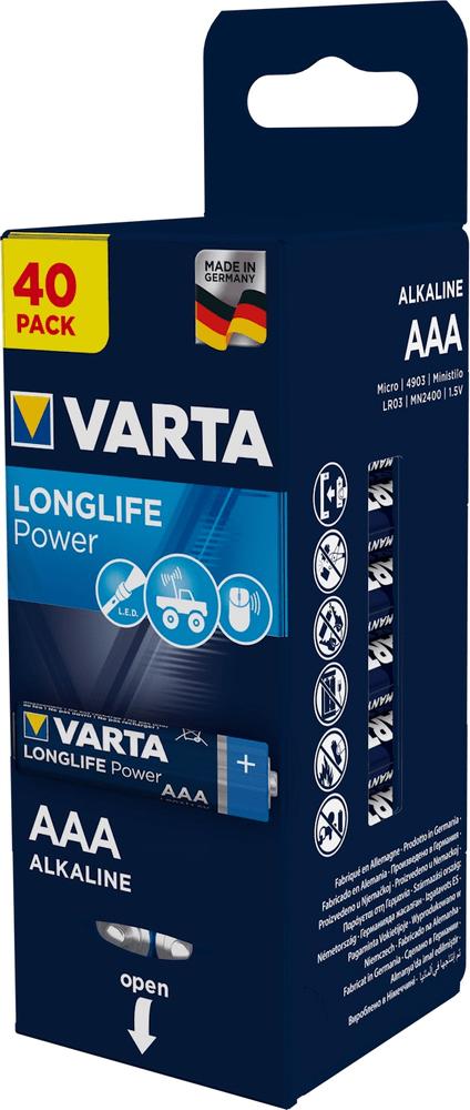 Varta Baterie Longlife Power AAA Storagebox Foil 4×10 4903121154