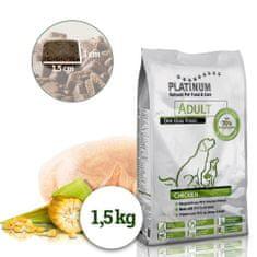 Platinum Natural Adult Chicken hrana za odrasle pse, s piščancem, 1,5 kg