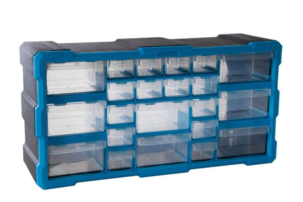AHProfi Plastový organizér / box na šroubky, 22 rozdělovníků - MW1503 | AHProfi