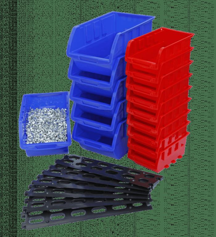 AHProfi Závěsná plastová lišta s 15 plastovými boxy - MSBRWK0906 | AHProfi