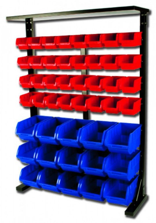 AHProfi Kovový regál s plastovými boxy 47 ks (7/47) - SBRF3447 | AHProfi
