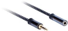 AQ Premium PA41030, kábel predlžovací 3,5 mm Jack (M) - 3,5 mm Jack (F), dĺžka 3 m, xpa41030