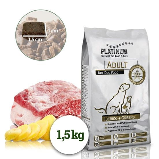 Platinum Natural Iberico & Greens - Kančí se zeleninou 1,55 kg
