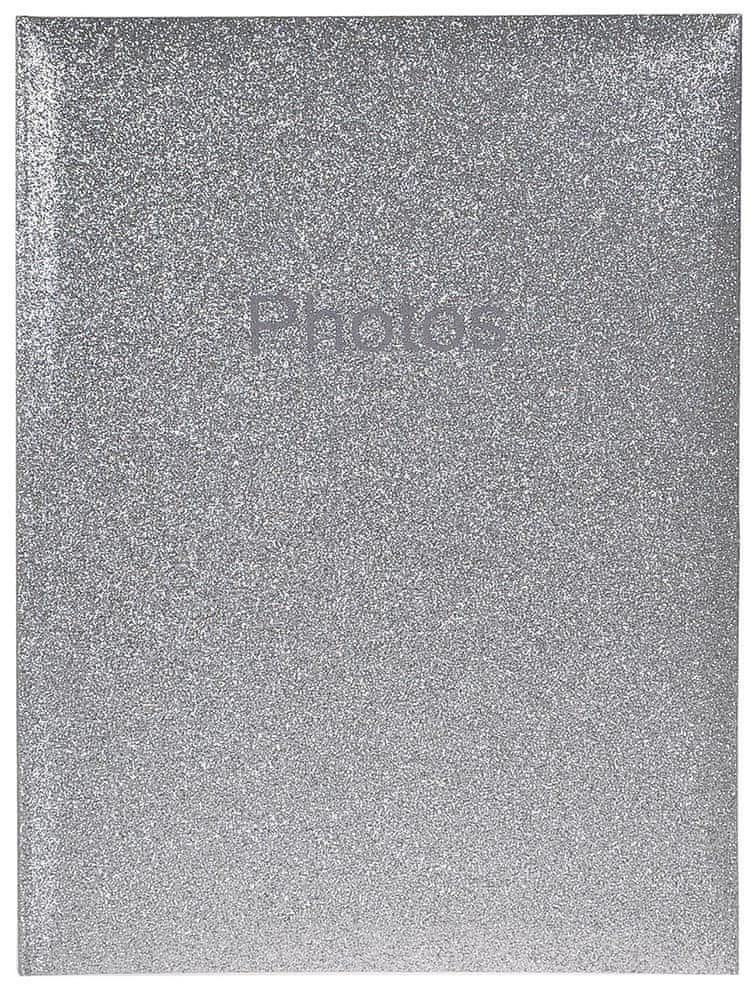 Innova Editions Fotoalbum Glitter stříbrný 300 10x15