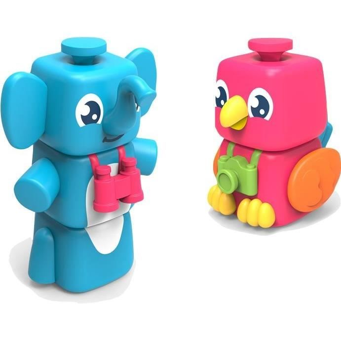 Tomy skládací postavičky slon a papoušek