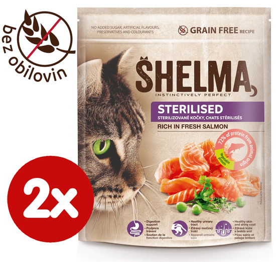 SHELMA Granule Freshmeat Sterilised losos 2*750g