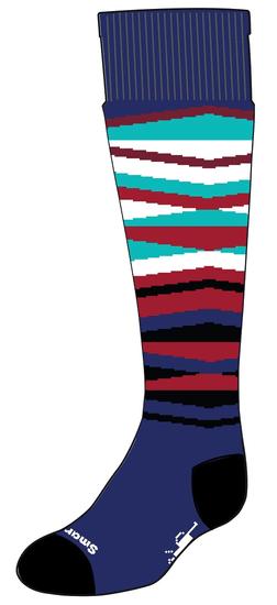 SmartWool Wintersport Stripe otroške nogavice alpine blue