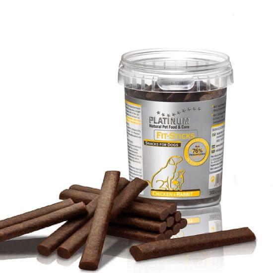 Platinum Natural Fit-Sticks Chicken & Rabbit - Kuře & Králík tyčinky 300 g
