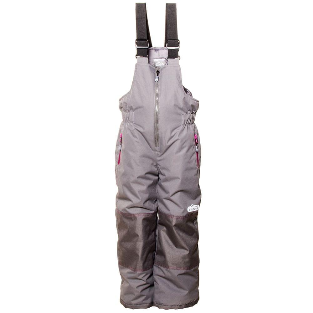 PIDILIDI dívčí zimní lyžařské kalhoty 134 šedá