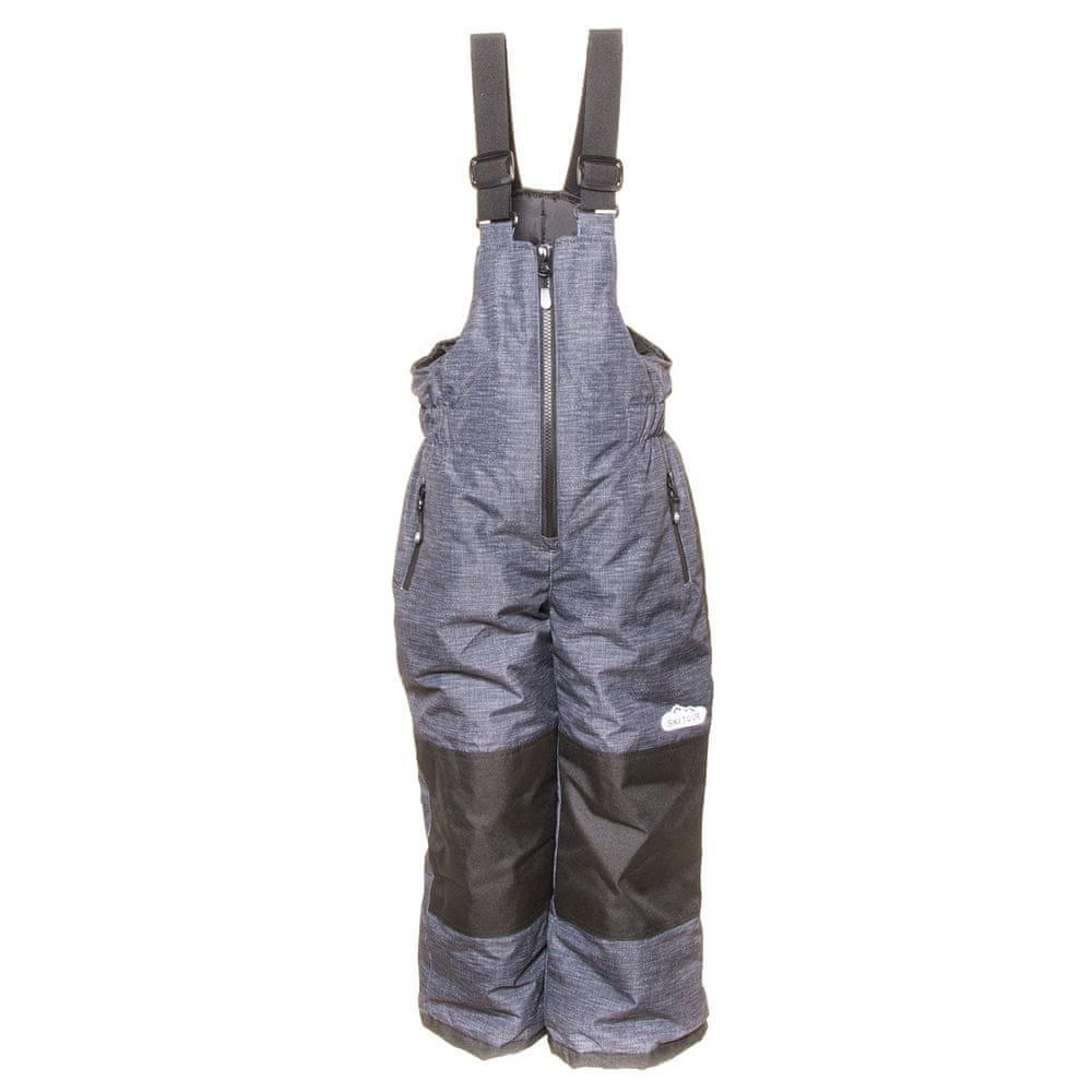 PIDILIDI chlapecké zimní lyžařské kalhoty 146/152 šedá
