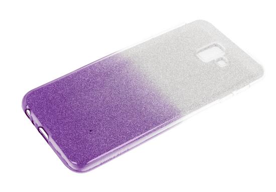 Bling ovitek za Huawei P Smart Z / Y9 Prime 2019, silikonski, srebrn z vijola bleščicami