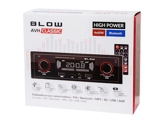 Blow AVH Classic 78-287 avtoradio, Bluetooth - Odprta embalaža
