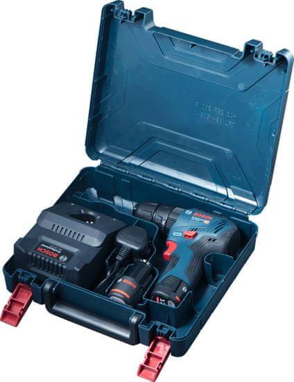 BOSCH Professional wiertarko-wkrętarka akumulatorowa GSB 12V-30, 2 akumulatory (0.601.9G9.100)