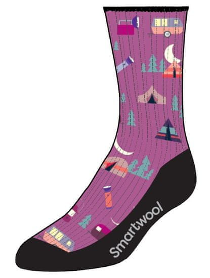SmartWool Hike Light Summer Nights Print Crew dječje čarape, meadow mauve