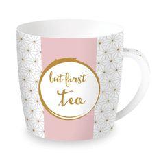 Easy Life porcelánový hrnek But First Tea 350 ml, dárkové balení