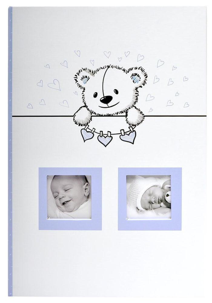 KPH Dětské fotoalbum Baby time 300 modré