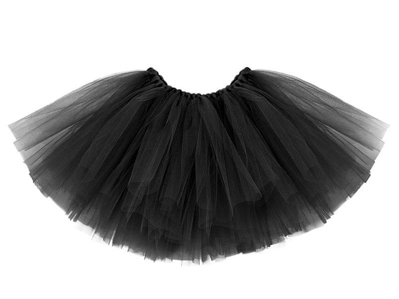 PartyDeco Tylová sukně 95x36cm ČERNÁ
