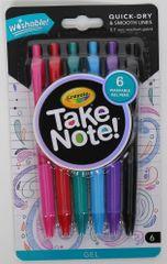 Crayola Take note gelová pera 6 ks