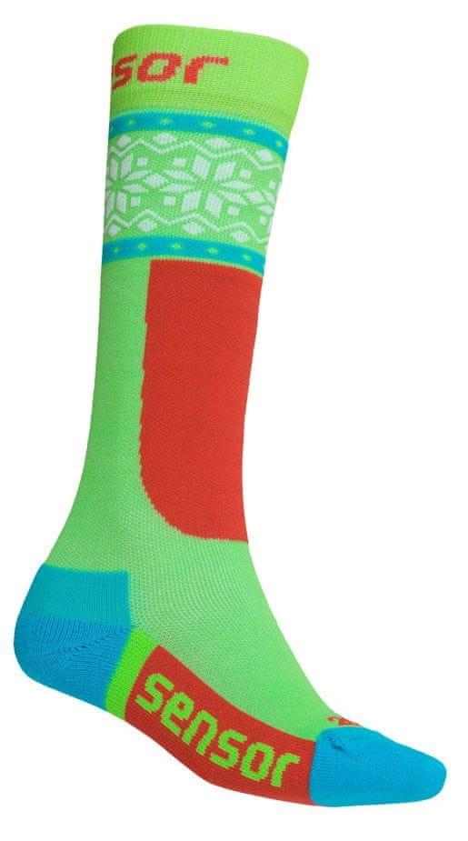 Sensor dětské ponožky THERMOSNOW NORWAY GREEN 3 - 5 zelená