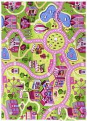 Associated Weavers Detský kusový koberec silnice Sweet Town 100x165