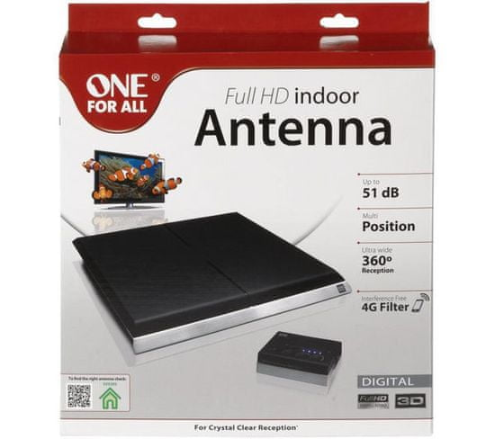 One For All SV9395 Amplified indoor Antenna up to 51 dB moderná vnútorná anténa