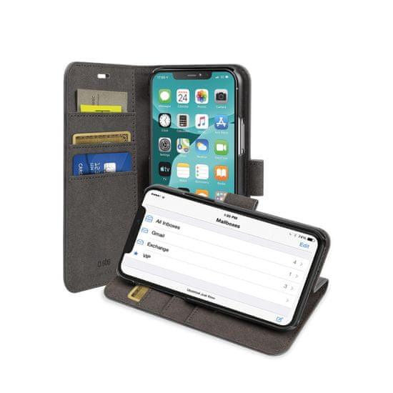 SBS preklopna torbica s stojalom za iPhone 11 Pro Max, črna