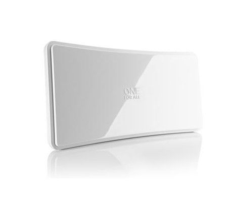 One For All SV9421 Amplified indoor TV antenna up to 42dB, Curved White Vnútorná anténa, biela