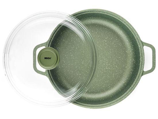 Risoli 00099DRIN / 28 Dr. Garnek indukcyjny zielony z pokrywką 28 cm