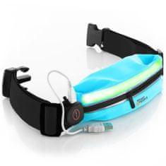 Sport2People LED tekaška torbica, turkizna