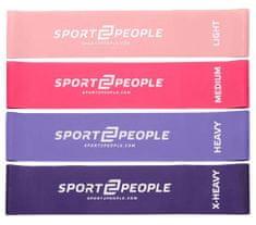 Sport2People lateks elastike za vadbo, 4 kos