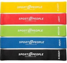 Sport2People lateks elastike za vadbo, 5 kos