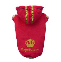Doggy Dolly pulover Royal Divas, rdeč, L