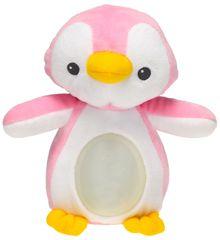 Mikro hračky Lampička tučňák 22 cm plyšový růžový
