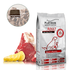 Platinum Natural Beef & Potato hrana za odrasle pse, z govedino in krompirjem, 5 kg