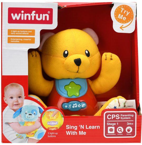 Mikro hračky Medvedík 18 cm sediaci so svetlom a zvukom