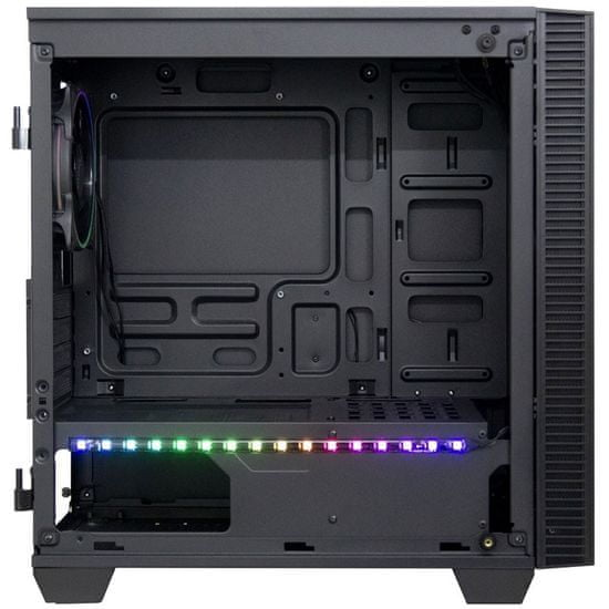 Inter-tech X-608 Infinity Micro ohišje, midiATX, RGB, kaljeno stelko, gaming