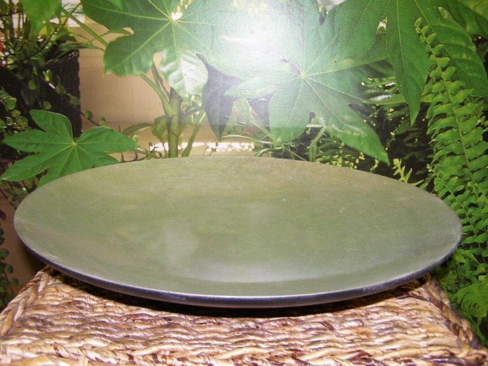 FORLIVING Bambusová mísa - stříbrná - výška 6 cm, průměr (vrchní) 40 cm (mísa malá)