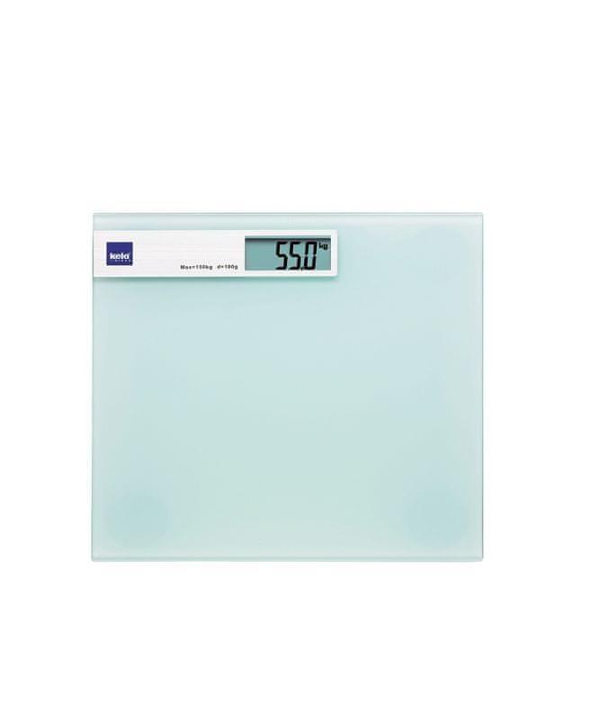 Kela Osobní váha digitální LINDA, skleněná bílá do 150kg
