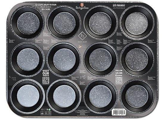 Berlingerhaus Forma na muffiny s nepřilnavým povrchem 12 ks Black Rose Collection