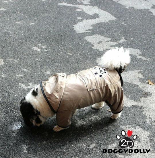 Doggy Dolly dežni plašček 2 tački, rjav
