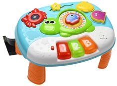 Mikro hračky Stolček interaktívny 31cm s klávesmi na batérie so svetlom a zvukom