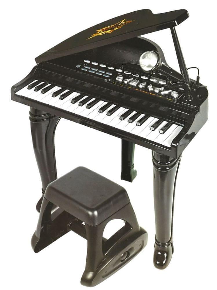 Mikro hračky Piano 44 cm 37 kláves s mikrofonem nahrávací na baterie se zvukem