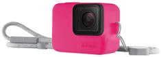 GoPro Sleeve + Lanyard (silikónový obal neónovo ružový) (ACSST-011)
